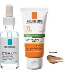 la roche posay effaclar + anthelios kit - sérum facial + protetor solar morena + kit