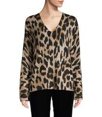 360 cashmere women's leopard cashmere sweater - leopard - size xs