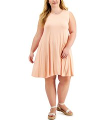 style & co plus size heathered flip-flop dress, created for macy's