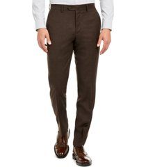 bar iii men's slim-fit brown textured suit separate pants, created for macy's