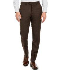 bar iii men's slim-fit brown textured suit separate pants, created for macy's