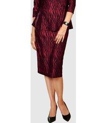 kjol paola röd::svart