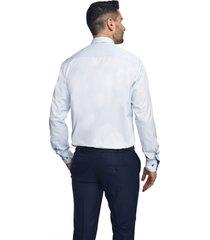 koszula bexley 2566 długi rękaw custom fit niebieski