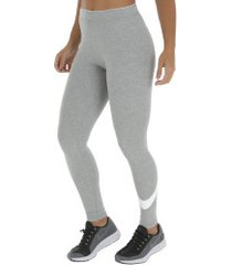 calça legging nike club logo - feminina - cinza