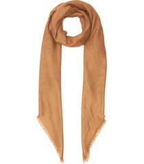 anagram checkboard wool silk cashmere blend scarf