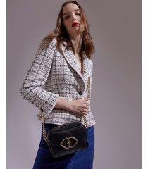 motivi borsa in pelle smart couture donna nero