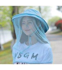 nuevo sombrero exterior de malla azul