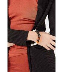 bracelete tricolor - tartaruga/preto/branco u