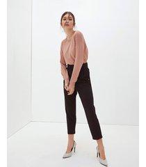 motivi pantaloni paper bag con cintura donna nero