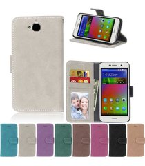 huawei y6 pro case,xyx [gray][scrub series] pu leather flip folio kickstand wall