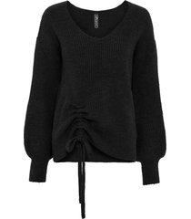 maglione con arricciatura (nero) - rainbow