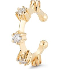 jade trau 18kt yellow gold diamond kismet ear cuff