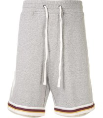 james perse double knit track shorts - grey