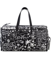 golden goose journey duffle bag printed journey nylon fabric body
