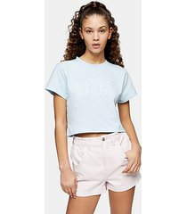 blue berlin crop t-shirt - blue