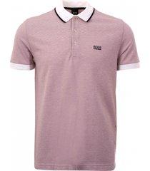 boss white paddy 2 micro-pattern polo shirt 50399374-100