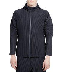 homme plisse navy jacket