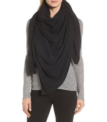 women's halogen lightweight cashmere scarf, size one size - black