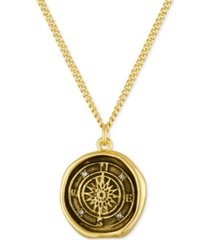 rachel rachel roy gold-tone compass pendant necklace