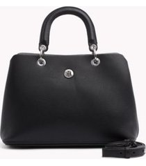 tommy hilfiger women's everyday satchel black -