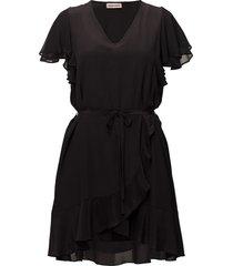 fadila korte jurk zwart custommade