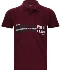 polo hombre bike color vino, talla s