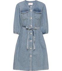 brookekb denim dress korte jurk blauw karen by simonsen