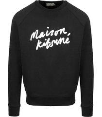 maison kitsuné handwrting clean sweatshirt