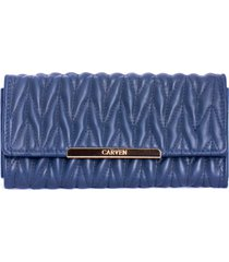 billetera azul carven
