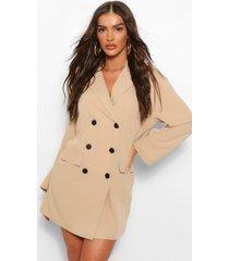 oversized drop shoulder blazer jurk, steenrood