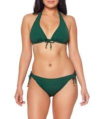 bleu by rod beattie walk line triangle bikini top, size 12 in palm at nordstrom