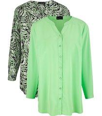 set blouses m. collection groen::zwart::wit