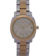reloj dorado-plateado versace 19.69