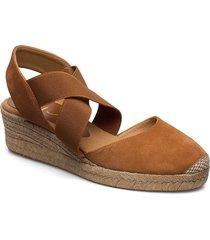 cele_20_ks sandalette med klack espadrilles brun unisa