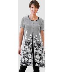 lange blouse paola zwart::wit