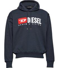 s-division sweat-shirt hoodie blå diesel men