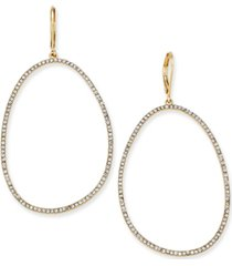 "inc extra large 2.5"" pave large loop earrings, created for macy's"