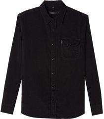 camisa john john eric algodão preto masculina (preto, gg)