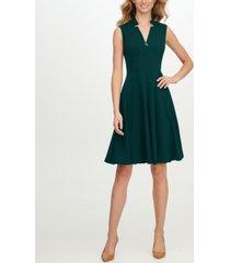 calvin klein star-neck a-line dress
