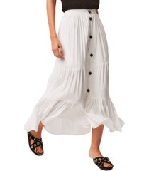 french connection eash draped maxi skirt