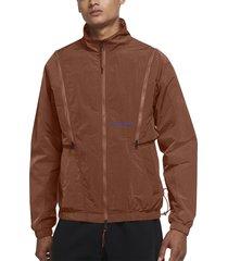 jordan 23 engineered ripstop nylon convertible track jacket, size xx-large in dark russet/dark russet at nordstrom