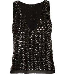 top le lis blanc elisabeth bordado festa preto feminino (black, 50)