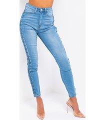 akira alexa braid skinny jeans