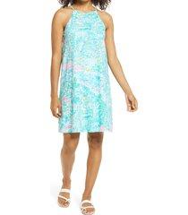 women's lilly pulitzer margot swing dress, size medium - green