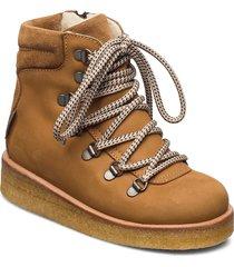boots - flat - with velcro vinterkängor med snörning beige angulus