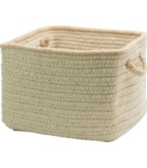 natural style square braided basket