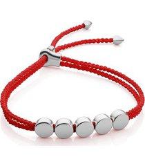 sterling silver linear bead friendship bracelet