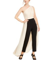 adrianna papell petite one-shoulder jumpsuit