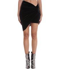 alexandre vauthier skirt in black velvet