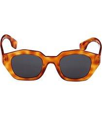 46mm faux tortoiseshell square sunglasses